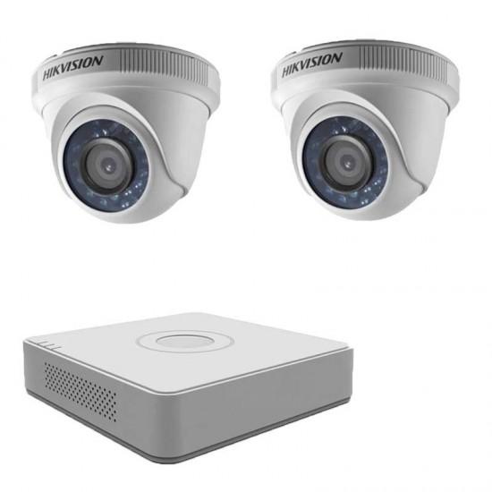 HD комплект  Hikvision с 2 HD вътрешни камери, DVR