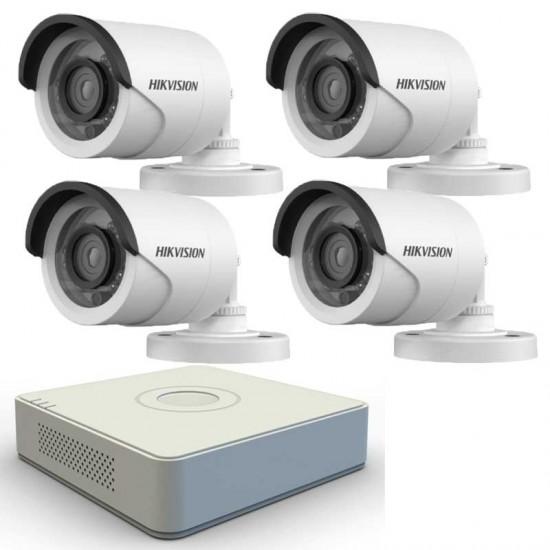 Turbo HD система за видеонаблюдение с 4 HD камери Hikvision
