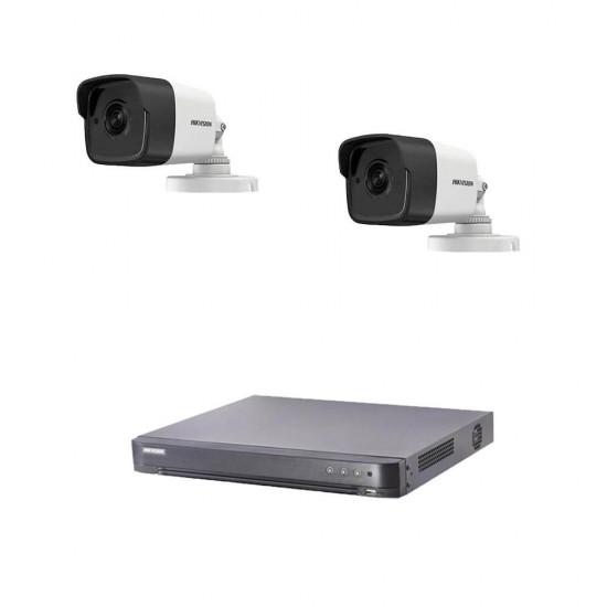 5MP комплект за наблюдение Hikvision с 2 камери, DVR
