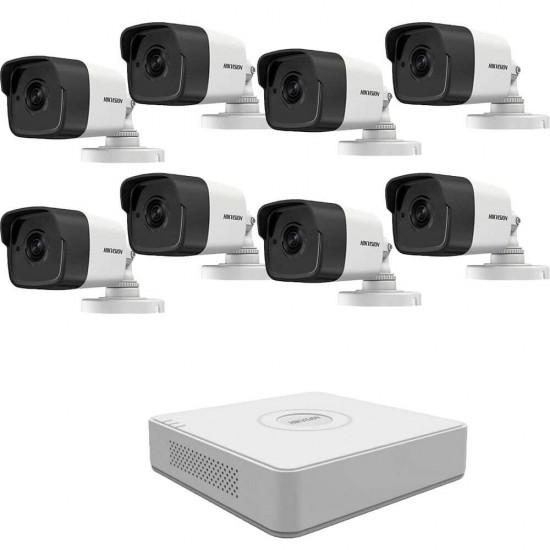 5MP комплект за наблюдение Hikvision с 8 камери, DVR