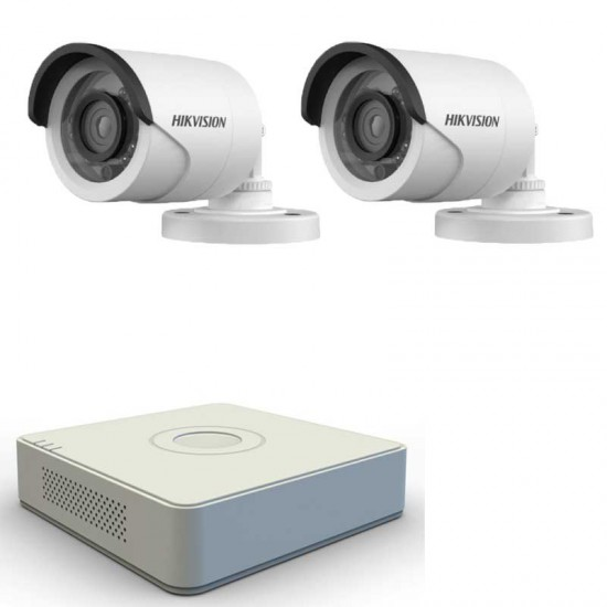Turbo HD система за видеонаблюдение с 2 HD камери Hikvision