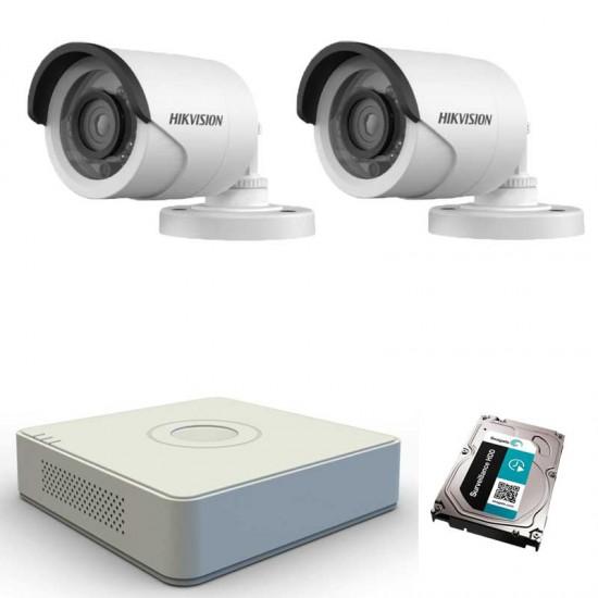Turbo HD система с 2 HD камери Hikvision, DVR и 1TB HDD