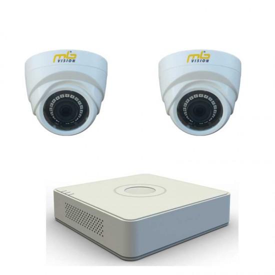HD комплект 2 вътрешни HD камери, IR 20м и DVR рекордер