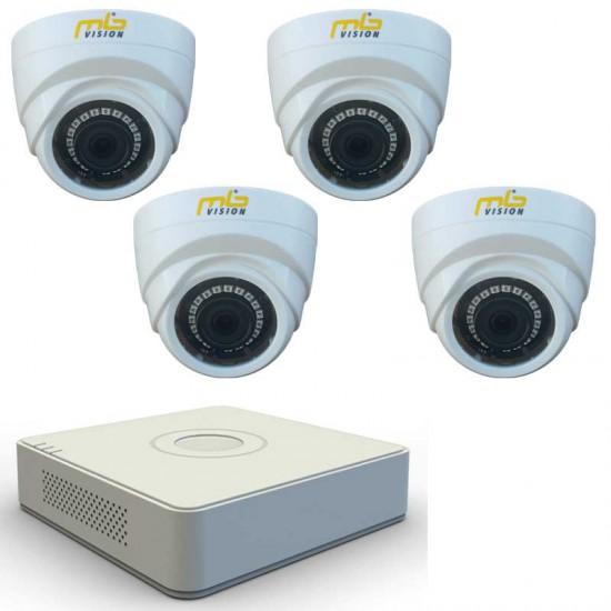 HD комплект 4 вътрешни HD камери, IR 20м и DVR рекордер