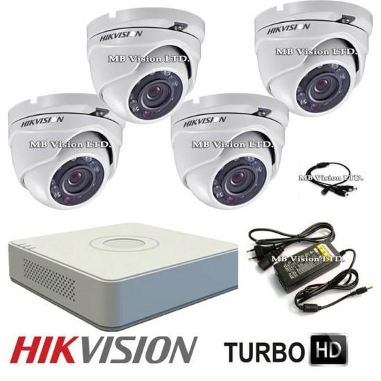 HD комплект Hikvision с 4 камери и DVR