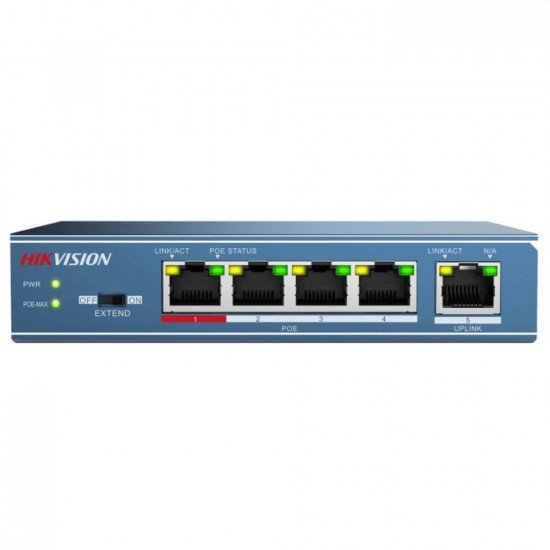 PoE switch Hikvision DS-3E0105P-E, 5 порта