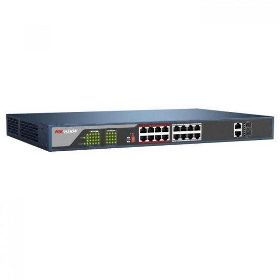 PoE switch Hikvision DS-3E0318P-E, 18-портов