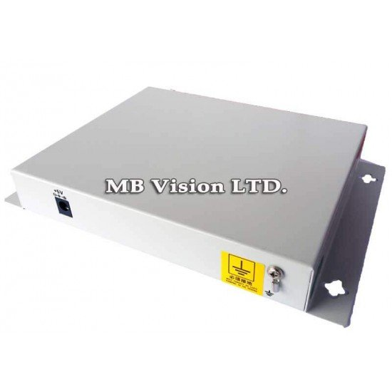 Комплект приемник и предавател за пренос на 1 видеосигнал, PTZ управление по оптика до 40км - EB-DV1010