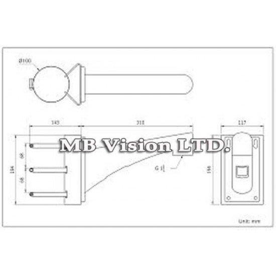 Стойка за монтаж на стълб на PTZ камери Hikvision DS-1602ZJ-POLE