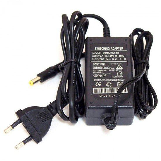 Захранващ адаптер 12 V DC / 2A за до 4 камери за видеонаблюдение