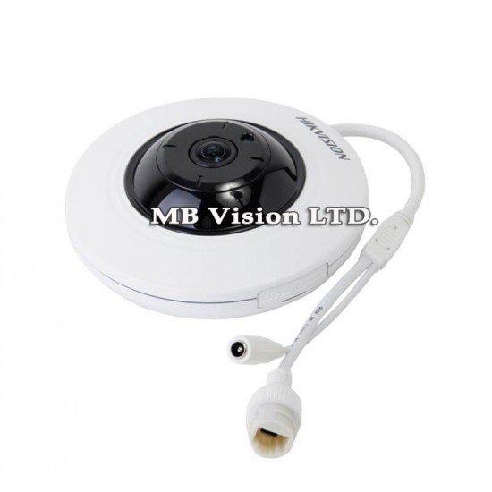 4MP IP панорамна, 180 градуса камера Hikvision DS-2CD2942F-I, IR до 10 метра