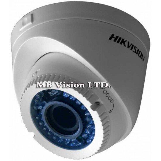 Full HD, HD-TVI куполна камера Hikvision за видеонаблюдение с варифокален обектив и IR осветление до 40 метра DS-2CE56D1T-VFIR3