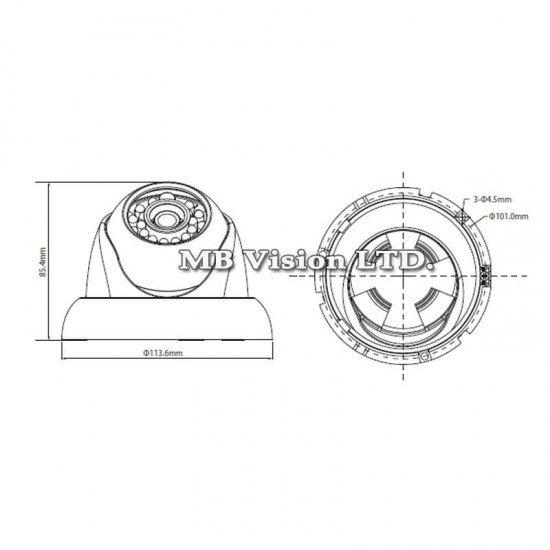 HD-CVI водоустойчива камера 2.4 мегапикселова Gen II Dahua HAC-HDW2220М