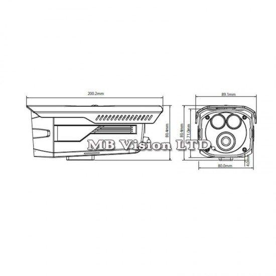 1.4MPix HDCVI камера Dahua за външен монтаж, IR 80m HAC-HFW2120D-B
