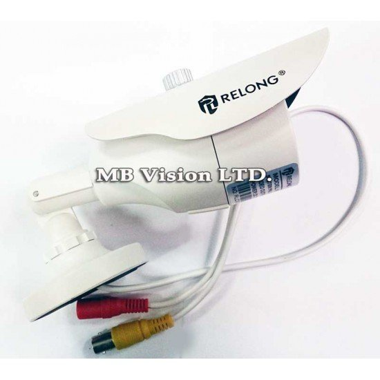 Водоустойчива булет камера за външен монтаж, 600TVL с 3.6мм обектив