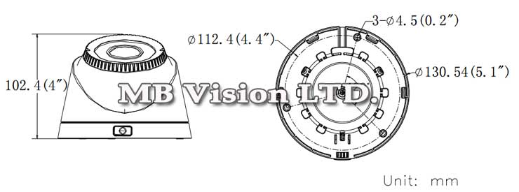 HD-TVI камерата за видеонаблюдение на Hikvision, модел DS-2CE56C2T-VFIR3